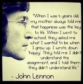 John Lennon Happiness Quote