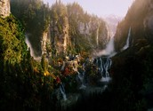 Rivendell waterfall