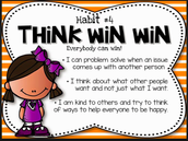 FOCUS Teacher Lesson's for Habit 4(Think Win Win) Week March 21- April 1