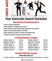 Jump Start Your Internship Search Workshop