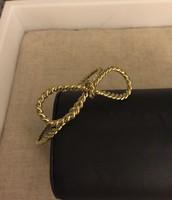 Gold Bow Bangle