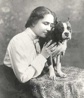 Helen with dog