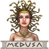This is Medusa a mythical monster.