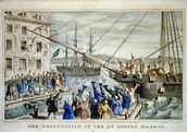 The Destruction of Tea at the Boston Harbor