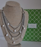 Avery Chains and Pearls Necklace
