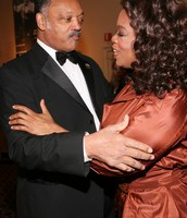 Jesse Jackson and Oprah Winfrey