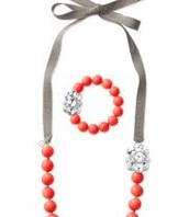SOLD  Orange Crush necklace/bracelet set $34 now 17