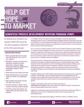 Opportunity! Positions for Genentech Process Development Rotation Program!