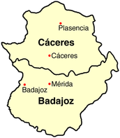 Extremadura is located in spain