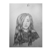 Another drawing I did of a girl.