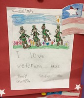 Student Writing on Veterans Day