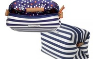 Pouf - Navy Stripe