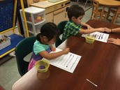 Practicing our table work time.