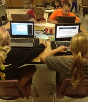 Students in Mrs. Weydert's 6th Grade Science Class use a variety of websites to research about a topic.
