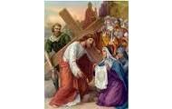 6.Święta Weronika ociera twarz Jezusowi.