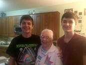 Leanne's Boys Enjoy time with Grandma...