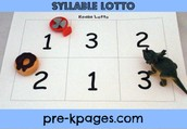Syllable Lotto