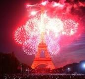 Belle couleurs de la Eiffel Tower