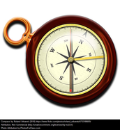 Compasses use the magnetic field of the Earth to point north.