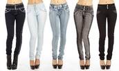 Pantalones vaqueros de talle altos