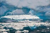 Smeltend ijs in Antarctica