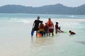 Diving close to Survivor island