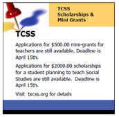 TCSS Available Awards and Scholarships for Teachers!