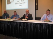 Panelists at the Dairy Beef Short Course
