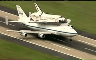 Discovery landing for museum transport