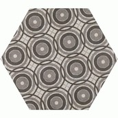 Hexagon Vintage Circles