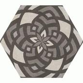 Hexagon Vintage Flower