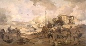 British Mark 1 Break the Hindenburg Line!