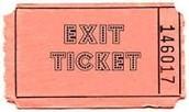 Exit Tickets Grades 9-12