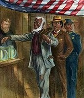 "The15 amendment gave blacks the right to vote. ""Can't Deny the right to vote by race."""