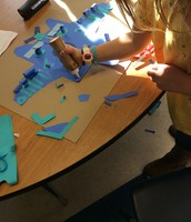 Native American Animal Relief Sculptures by Second Grade