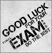 Exams May 31-June 2