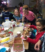 Making gingerbread houses with our 6th grade buddies...