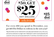 You earned Dot Dollars in December- Time to Spend them!