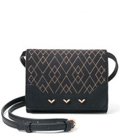 NOLITA SMALL CROSSBODY - BLACK/METALLIC