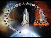 space shuttle badges