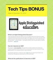 Apple Distinguished Educator