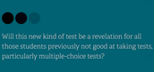 How Performance Tasks Change the Measure of Testing