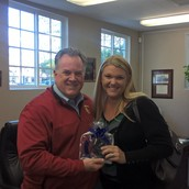 """Mrs. Glembocki Receives a Standing """"O"""" from Dr. Franklin and the Executive Board"""