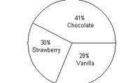 Ice cream pie chart