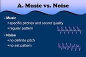 Why is some sound noise and some music?