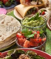 Tortillas, Guacamole, and Burrito