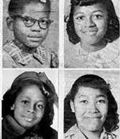 Four girls that died inside the church.