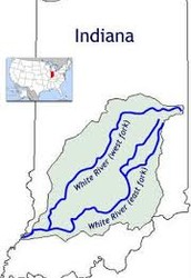 The White River is a two-forked river that flows threw central and southern Indiana.