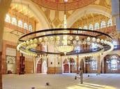 Chandelier inside Al Fateh Mosque