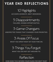 Year End Reflection Thoughts